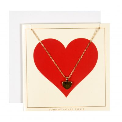 Johnny Loves Rosie Dames Red Heart Gift Card Basismetaal JLR-GCARD-REDHR