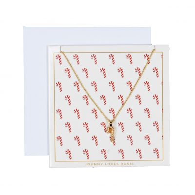 Johnny Loves Rosie Dames Candy Cane Necklace Gift Card Basismetaal JLR-XMAS-CARD-CANDY