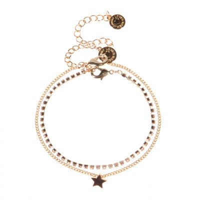 Johnny Loves Rosie Dames Star Bracelet Cracker Basismetaal JLR-CRACKER-BLU