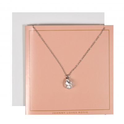 Johnny Loves Rosie Dames TearNecklace Gift Card Basismetaal JLR-GCARD-SILVT