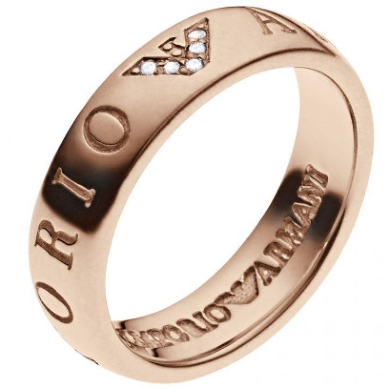 EMPORIO ARMANI Damen Emporio Armani Size P Ring Sterling-Silber EG3146221508
