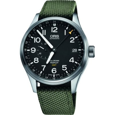 Oris Big Crown ProPilot GMT Herrklocka Grön 0174877104164-0752214FC
