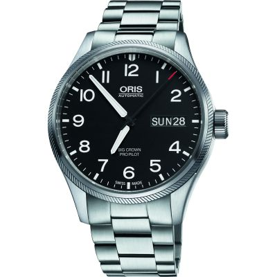 Mens Oris Big Crown ProPilot Day Date Automatic Watch 0175276984164-0782219