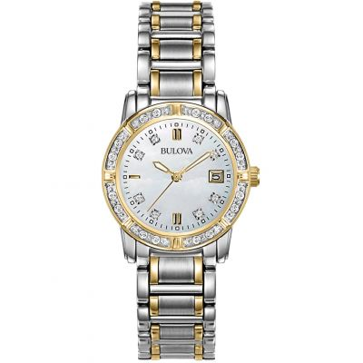 Ladies Bulova Diamond Gallery Diamond Watch 98W107