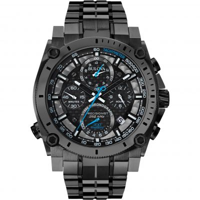 Mens Bulova Precisionist Chronograph Watch 98G229