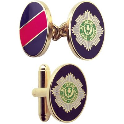 Mens Smart Turnout Cufflinks PVD Gold plated Military SG/40-TB
