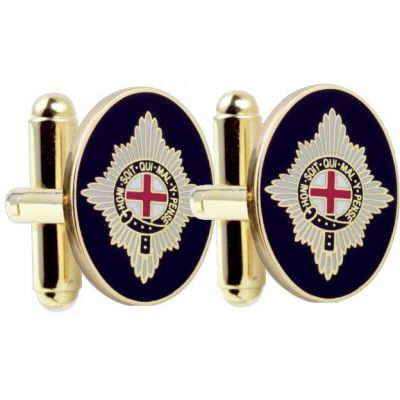 Mens Smart Turnout Cufflinks PVD Gold plated Military CG/40-TB