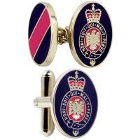 Mens Smart Turnout Cufflinks PVD Gold plated Military BL/40-TB
