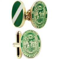 Mens Smart Turnout Cufflinks PVD Gold plated University DART/40-TB