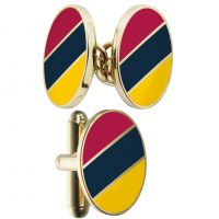 Mens Smart Turnout Cufflinks PVD Gold plated Military MC/40/S-TB