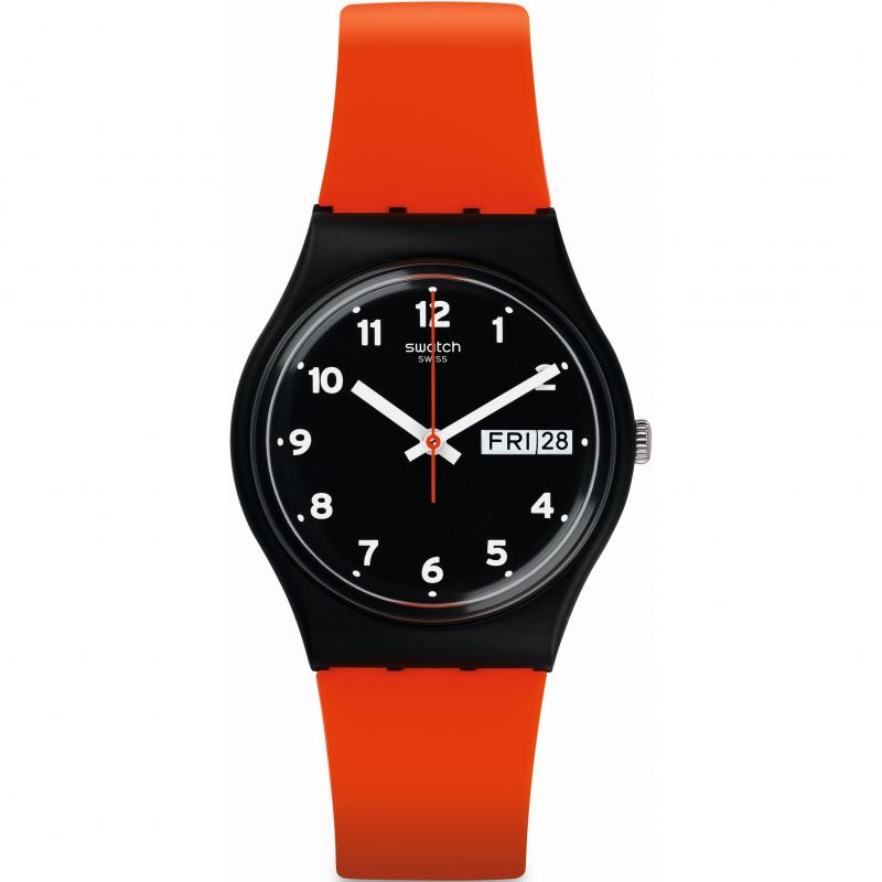 Unisex Swatch RED GRIN Watch GB754