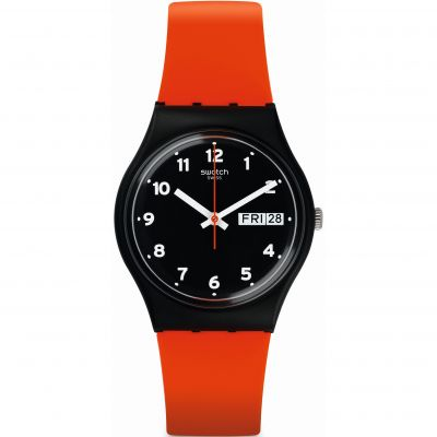 Swatch Original Gent RED GRIN Unisexuhr in Orange GB754