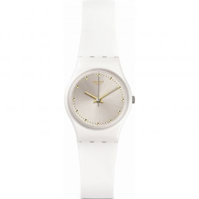 Ladies Swatch WHITE MOUSE Watch LW148