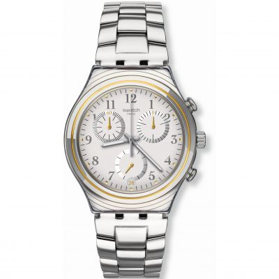 Unisex Swatch SILVERNOW Chronograph Watch YCS586G