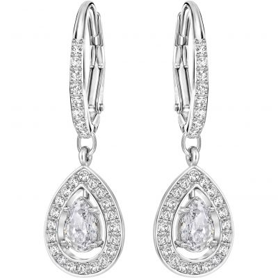 Ladies Swarovski Rhodium Plated Attract Light Earrings 5197458