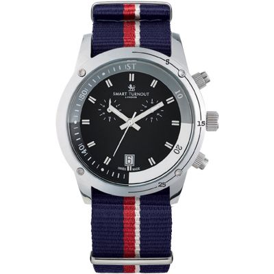 Smart Turnout Royal Herrenchronograph in Blau STD2/56/W-RN
