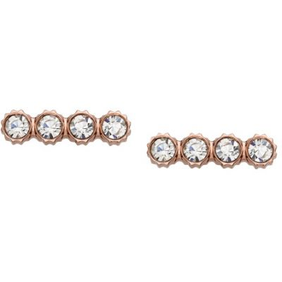 Ladies Fossil PVD rose plating Iconic Earrings JF02234791