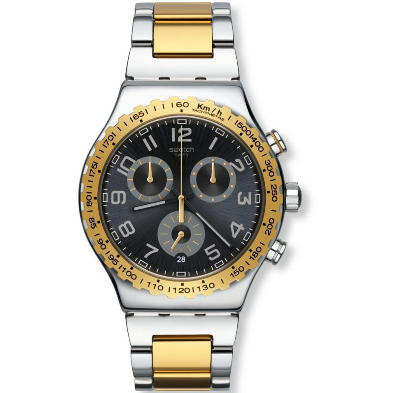 Mens Swatch Golden Youth Chronograph Watch