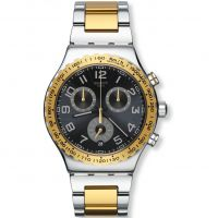 Mens Swatch Golden Youth Chronograph Watch YVS427G