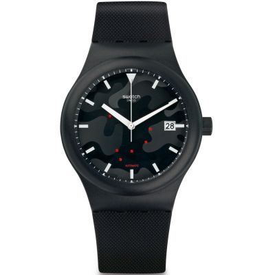 Swatch Sistem51 Originals Sistem Clouds Unisexuhr in Schwarz SUTA401