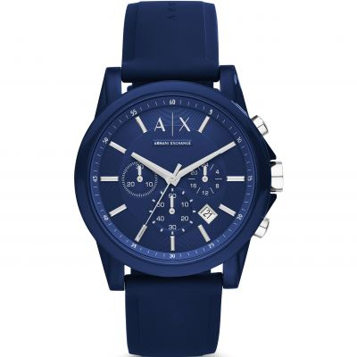 Armani Exchange Herrenchronograph in Blau AX1327