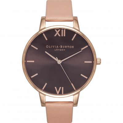 Chocolate Dial Rose Gold & Dusty Pink Watch