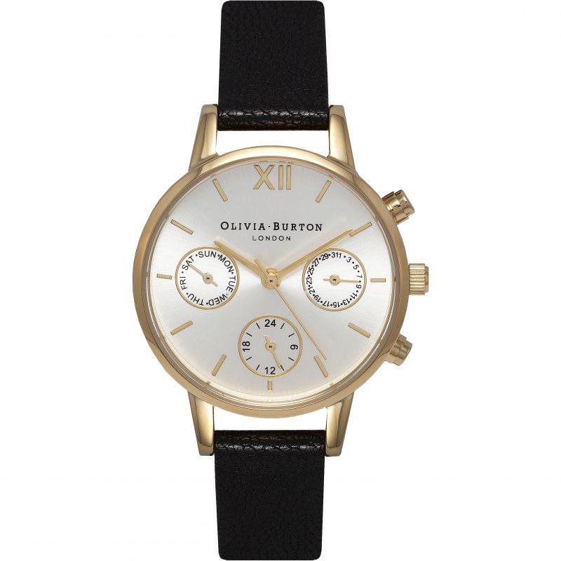 Midi Dial Chrono Black  & Gold Watch
