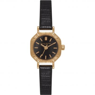 Mini Dial Black & Gold Watch