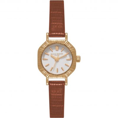 Mini Dial Brown & Rose Gold Watch