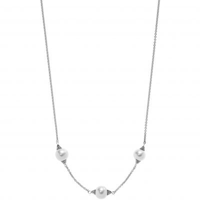 Ladies Emporio Armani Sterling Silver Deco Necklace EG3287040
