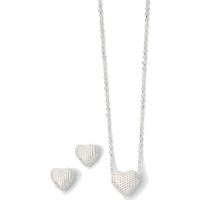 Ladies Fiorelli PVD Silver Plated Necklace & Earring Set Z1006