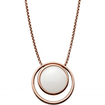Ladies Skagen PVD rose plating SEAGLAS NECKLACE SKJ0821791