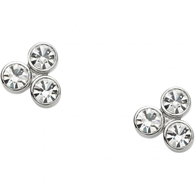 Ladies Fossil Stainless Steel GLITZ EARRINGS JF01439040