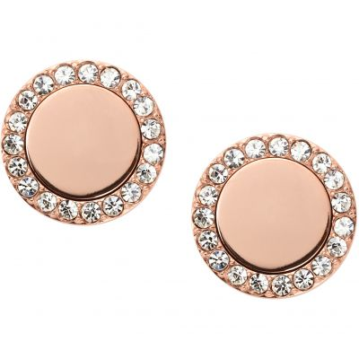 Ladies Fossil PVD rose plating FASHION EARRINGS JF01792791