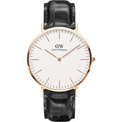 Daniel Wellington Classic 40mm Reading Herrenuhr in Schwarz DW00100014