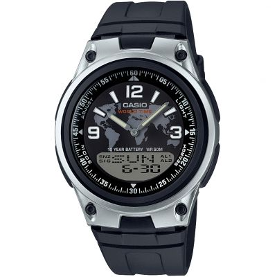 Casio CORE Herrenchronograph in Schwarz AW-80-1A2VES