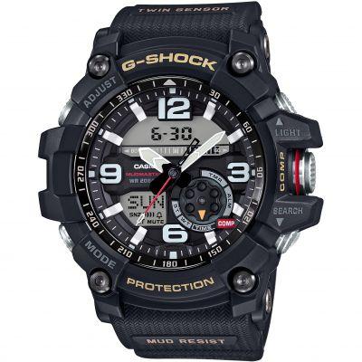Mens Casio Premium G Shock Mudmaster Twin Sensor Compass Alarm Chronograph Watch Gg 1000 1aer