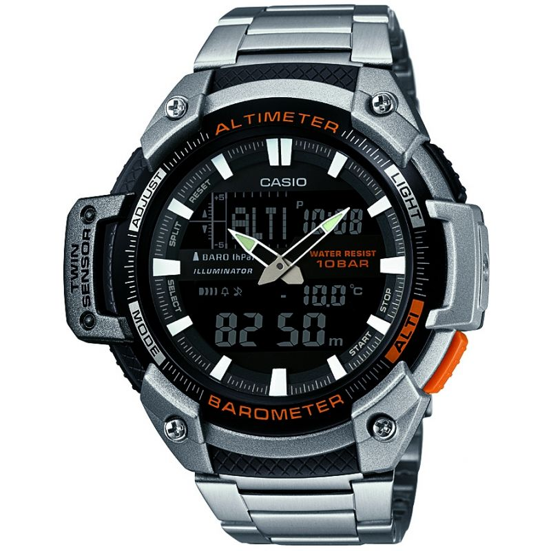 Casio SPORTS GEAR Herrkronograf Silver SGW-450HD-1BER