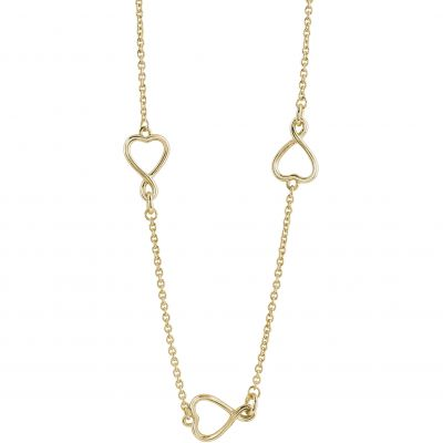 Ladies Guess PVD Gold plated Amour Necklace UBN61056