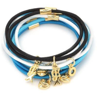 Damen Juicy Couture Charmy Elastics Hair Elastics PVD vergoldet WJW755-457