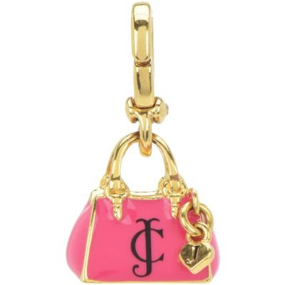 Ladies Juicy Couture PVD Gold plated Little Luxuries Enamel Bag Charm WJW769-710