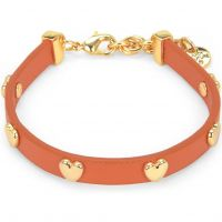 Ladies Juicy Couture PVD Gold plated Layered In Couture Heart Leather Bracelet WJW734-821