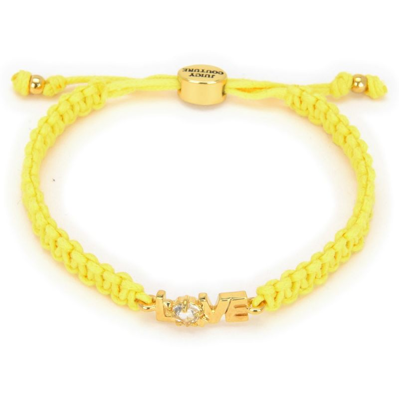 Ladies Juicy Couture PVD Gold plated Love Juicy Cord Bracelet GJW31-735
