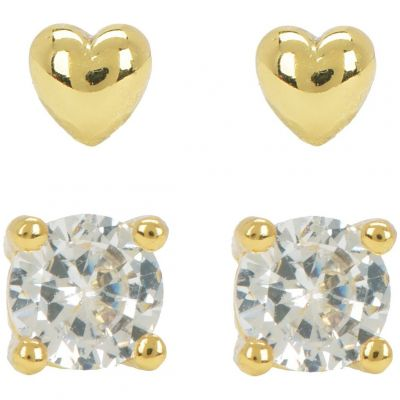 Ladies Juicy Couture PVD Gold plated Juicy Expressions Heart Expressions Stud Earring Set WJW738-710