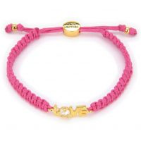 Ladies Juicy Couture PVD Gold plated Love Juicy Cord Bracelet GJW31-673