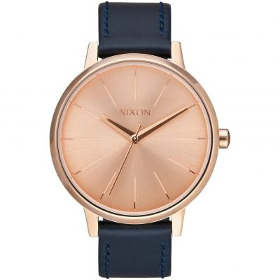 Nixon The Kensington Leather Damklocka Blå A108-2160