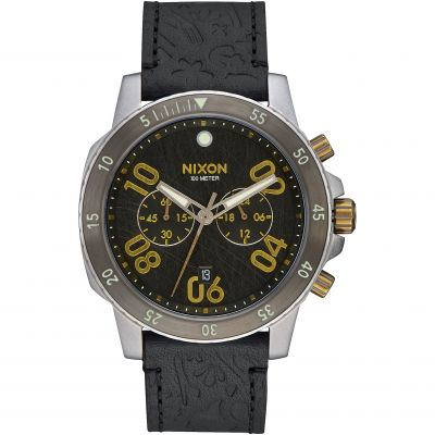 Nixon The Ranger Chrono Leather Herrkronograf Svart A940-2222