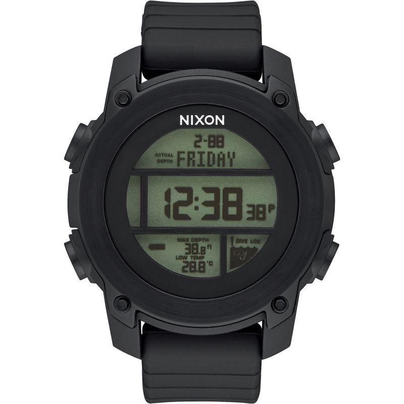 Mens Nixon The Unit Drive Alarm Chronograph Watch
