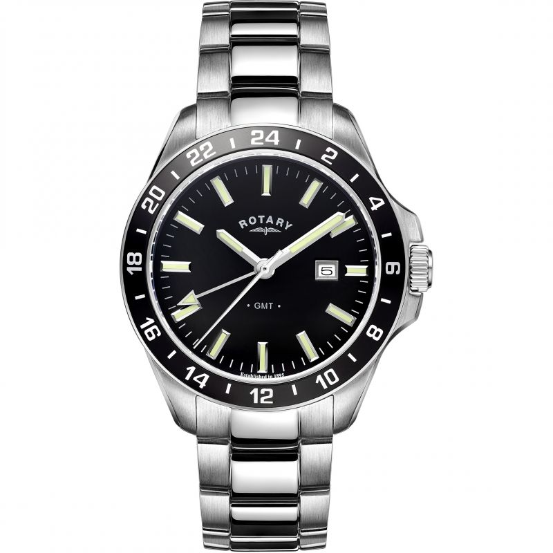 Mens Rotary GMT Watch