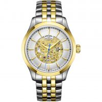 Mens Rotary Mecanique Skeleton Automatic Watch GB05033/06